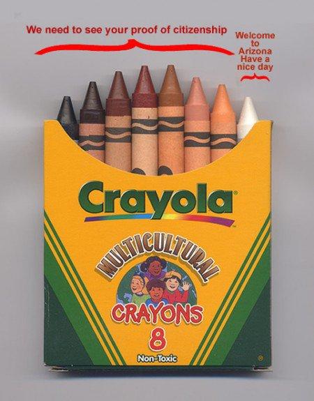 Crayola multicultural crayons - Arizona Special Box